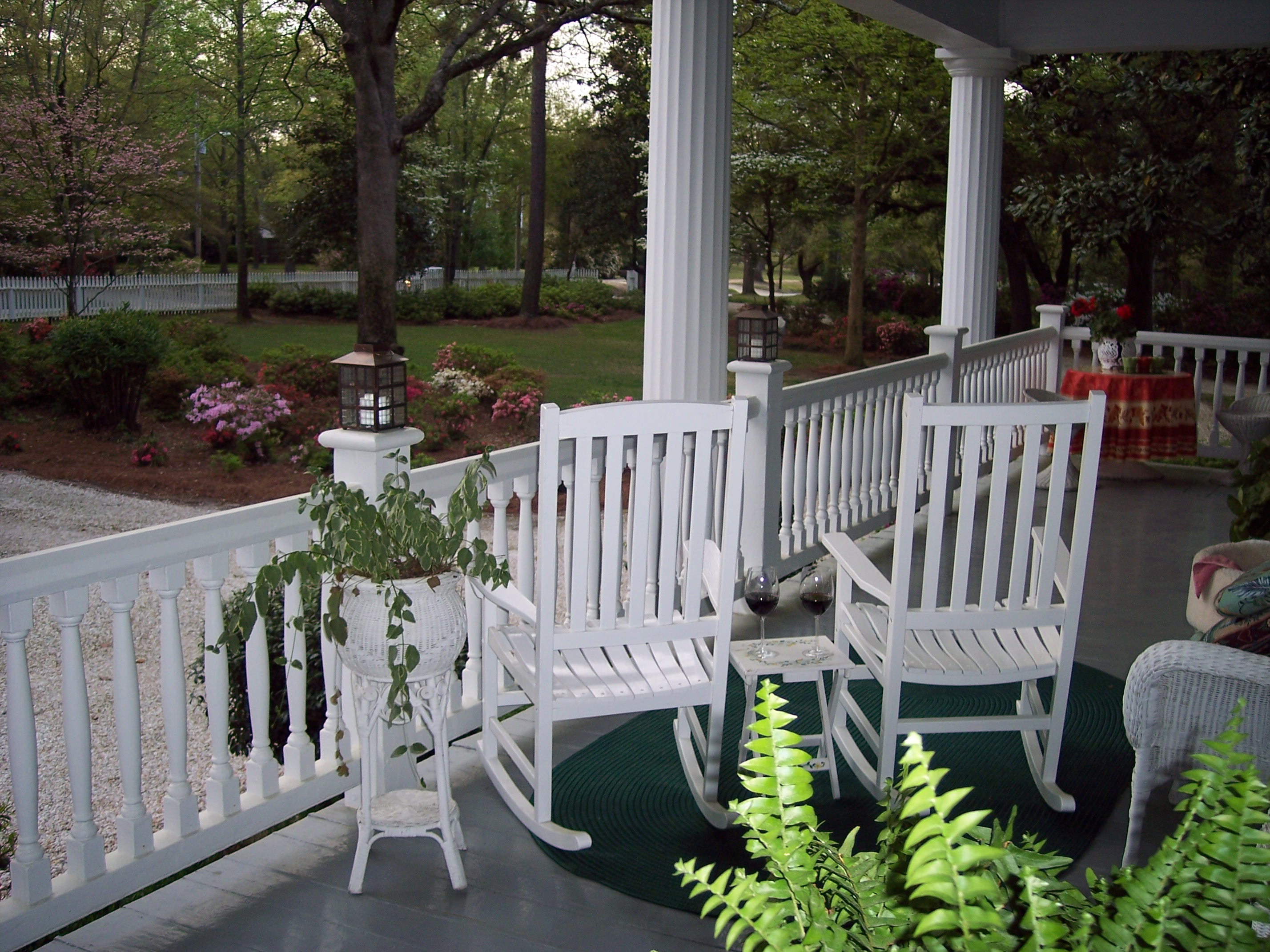 Front Porch at Bloomsbury In Bed and Breakfast in Camden, SC