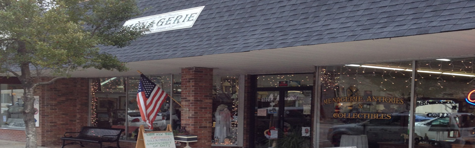 One of many antique shops in Camden, SC